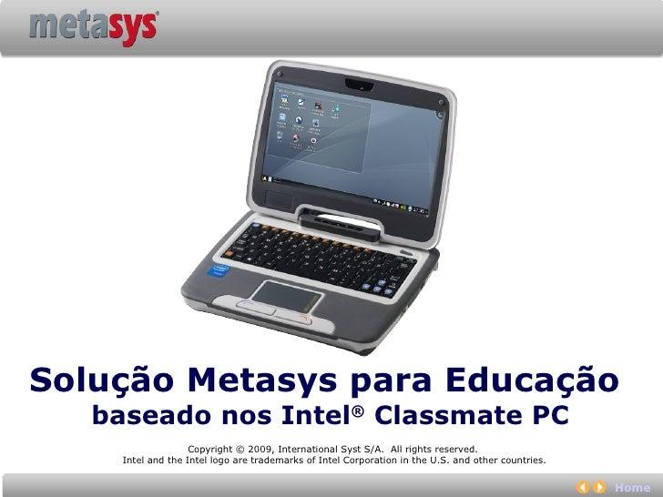 Metasys Solução Educacional Slide 2