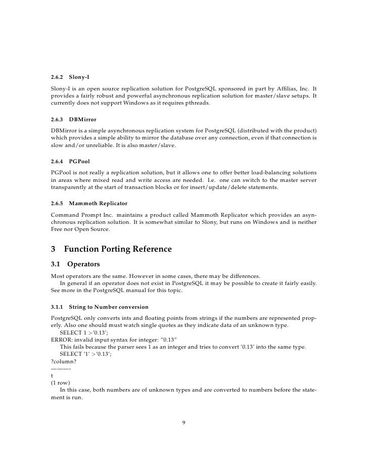 Metatron Technology Consulting 's MySQL to PostgreSQL