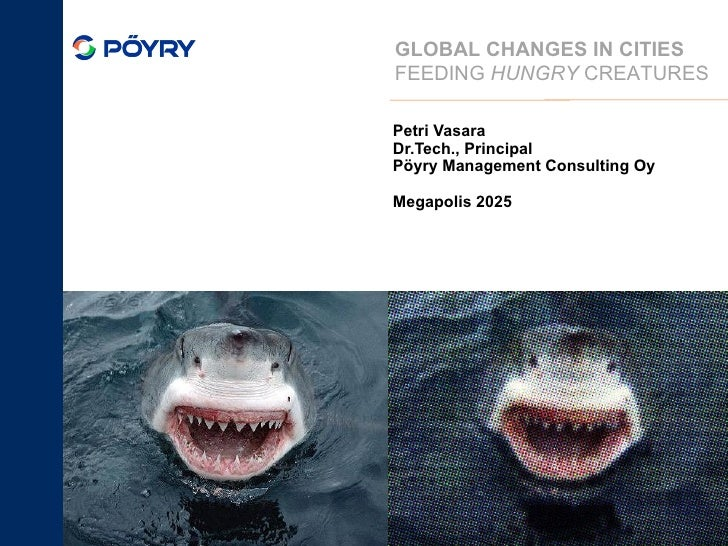 Petri Vasara Dr.Tech., Principal Pöyry Management Consulting Oy Megapolis 2025 September 25, 2010 GLOBAL CHANGES IN CITIES...
