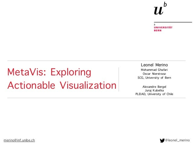MetaVis: Exploring Actionable Visualization Leonel Merino Mohammad Ghafari Oscar Nierstrasz SCG, University of Bern Alexan...
