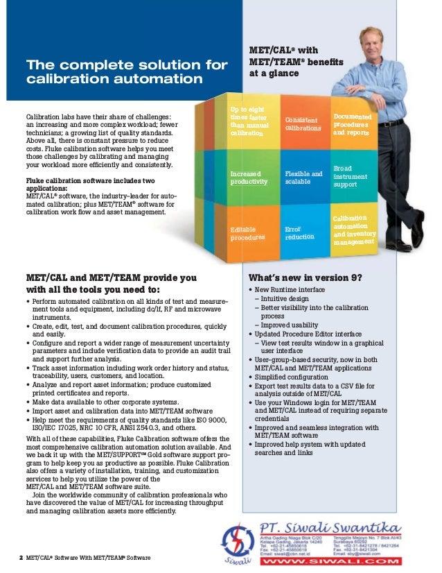 Fluke Calibration | MET/CAL Calibration Management Software