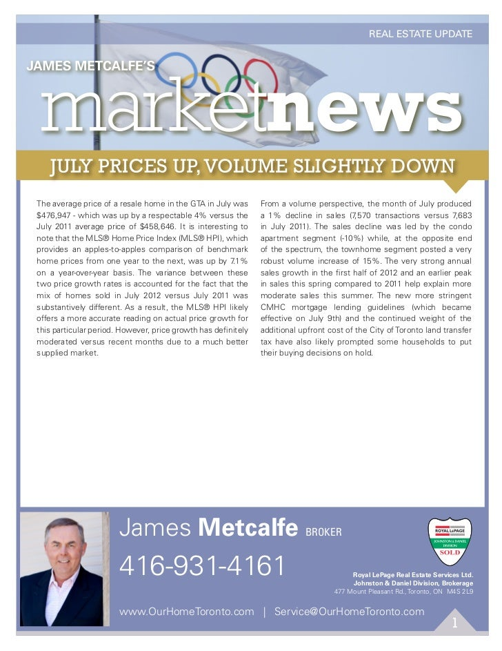 AUGUST 2012                                                                                              REAL ESTATE UPDAT...
