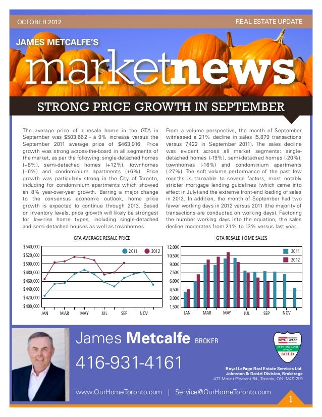OCTOBER 2012                                                                                              REAL ESTATE UPDA...