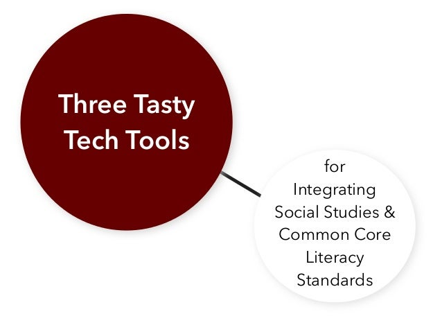 Three Tasty Tech Tools for Integrating Social Studies & Common Core Literacy Standards
