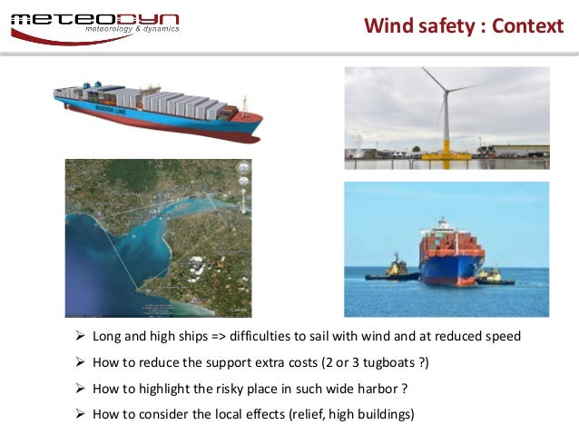 Mobile Applications dedicated to wind safety of ships in harbor Slide 3