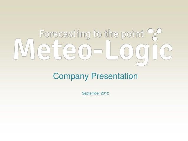 Company Presentation      September 2012