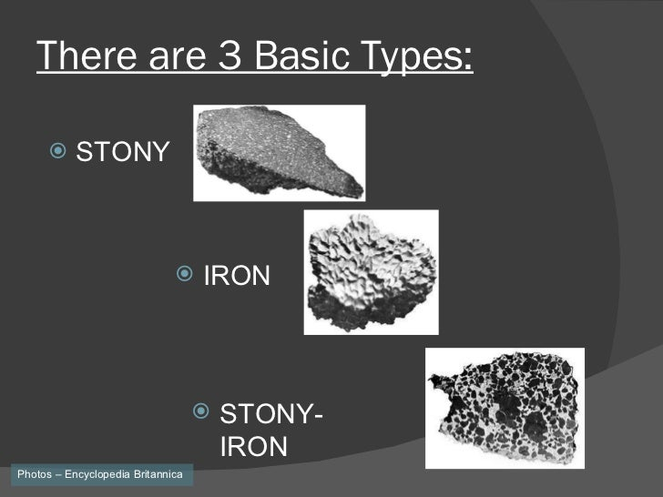 what are the three types of meteorites