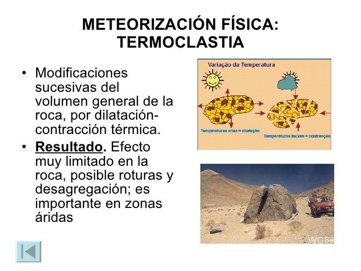Meteorizaci n for Roca termica