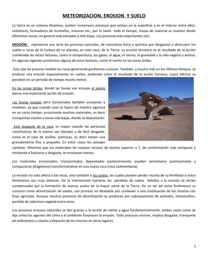 Meteorizacion y suelo for Tipo de suelo 1