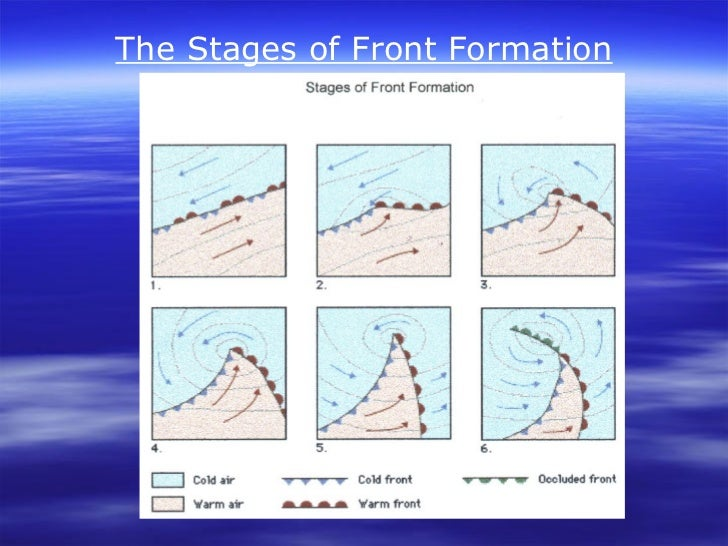 The Stages of Front Formation