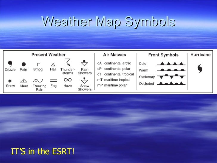 Weather Map Symbols IT'S in the ESRT!