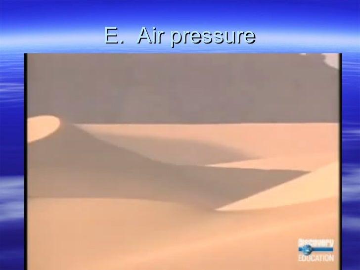 E.  Air pressure
