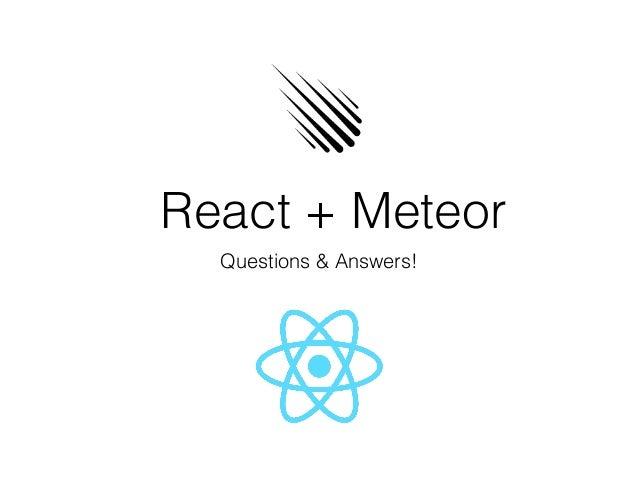 Meteor + React