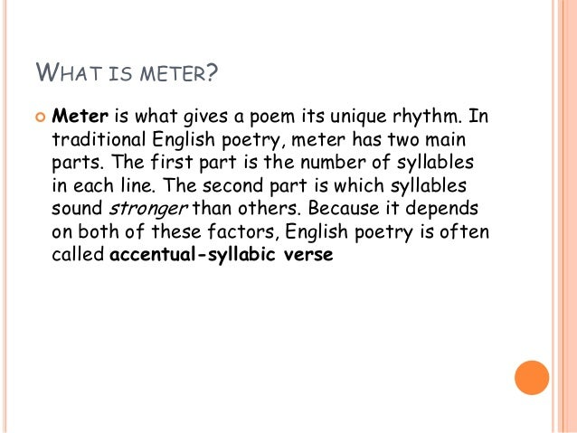 rythm poetry essay