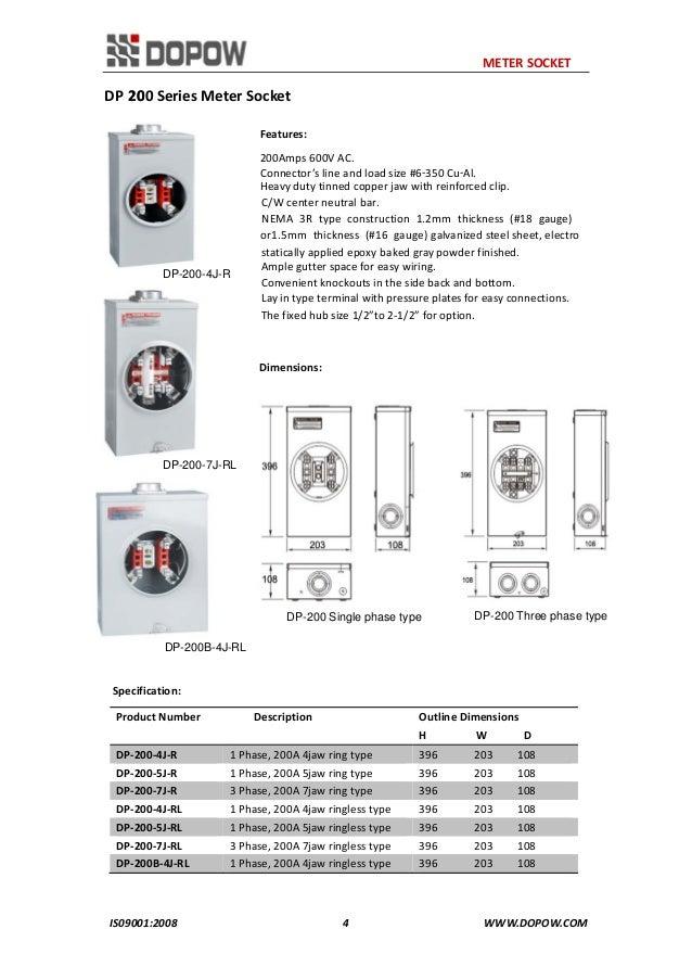 15 Jaw Meter Base Wiring Diagram: Meter Box Wiring Diagram   Nilza net,