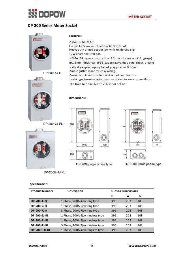 Dp Series Meter Socket