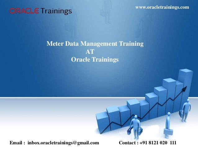 Meter Data Management Training AT Oracle Trainings Email : inbox.oracletrainings@gmail.com Contact : +91 8121 020 111 www....