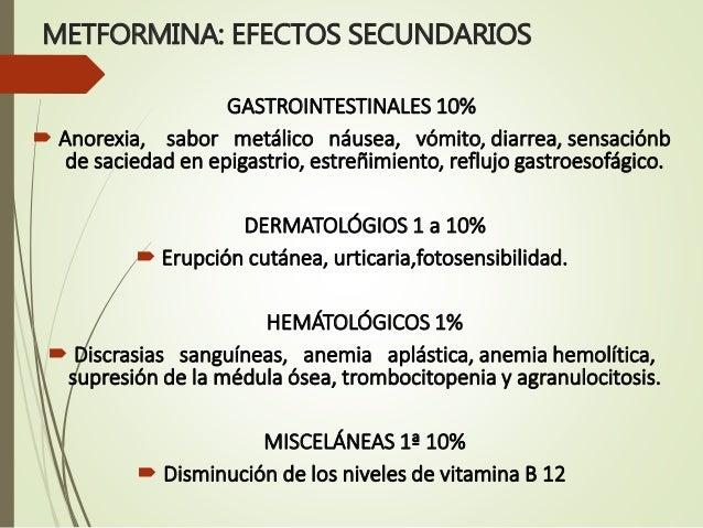 METFORMINA EFECTOS SECUNDARIOS PDF