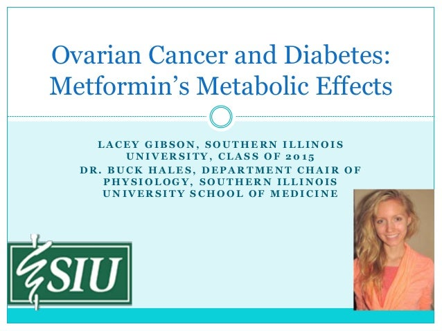 Ovarian Cancer and Diabetes: Metformin's Metabolic Effects LACEY GIBSON, SOUTHERN ILLINOIS UNIVERSITY, CLASS OF 2015 DR. B...