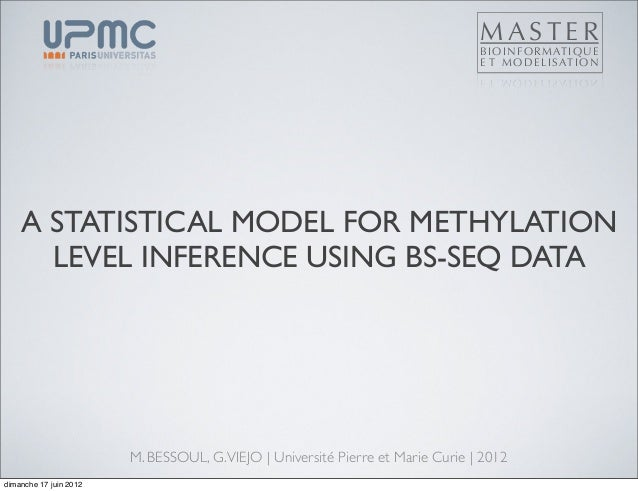 A STATISTICAL MODEL FOR METHYLATIONLEVEL INFERENCE USING BS-SEQ DATAM. BESSOUL, G.VIEJO | Université Pierre et Marie Curie...