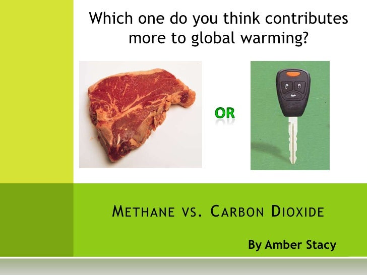 By Amber Stacy<br />Which one do you think contributes more to global warming?<br />OR<br />Methane vs. Carbon Dioxide<br />