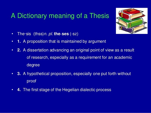 Doctoral dissertation dictionary