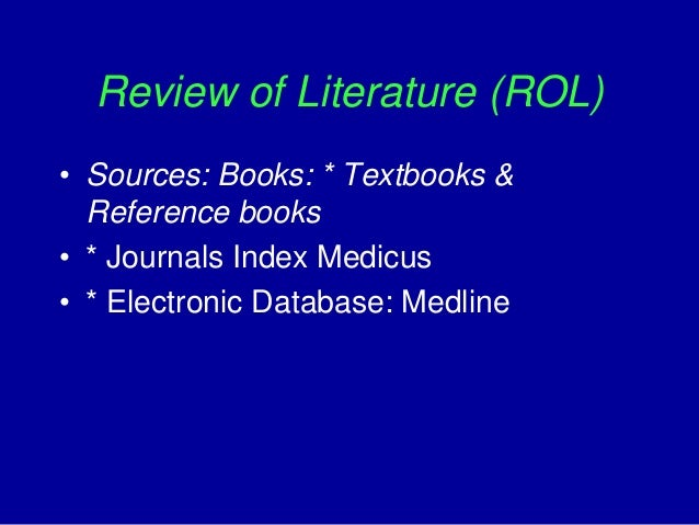Dissertations in bibliometric analysis of published literature in medline