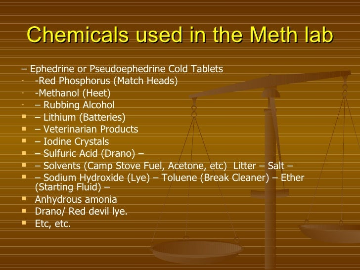 Methamphetamine synthesis red phosphorus