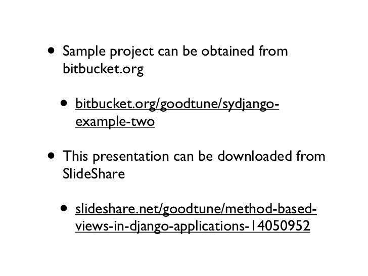 Method based views in django applications