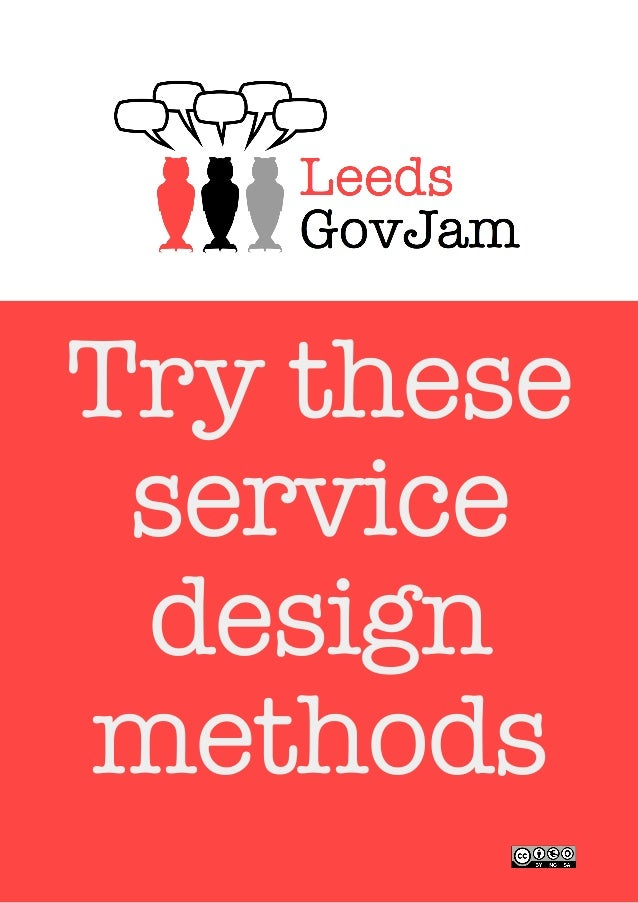 Try these service design methods