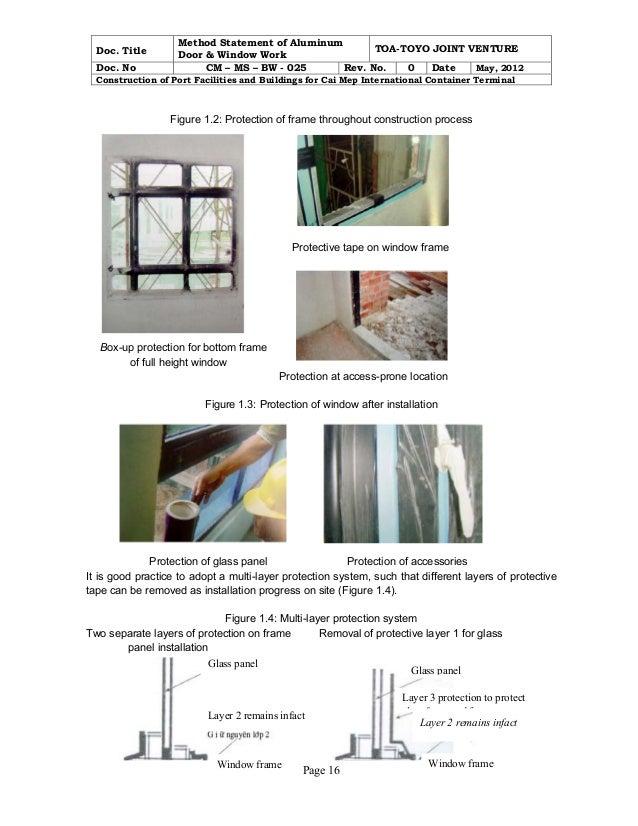 Method aluminum door & window