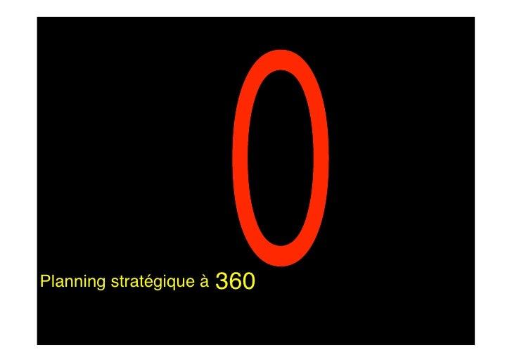 360 Planning stratégique à