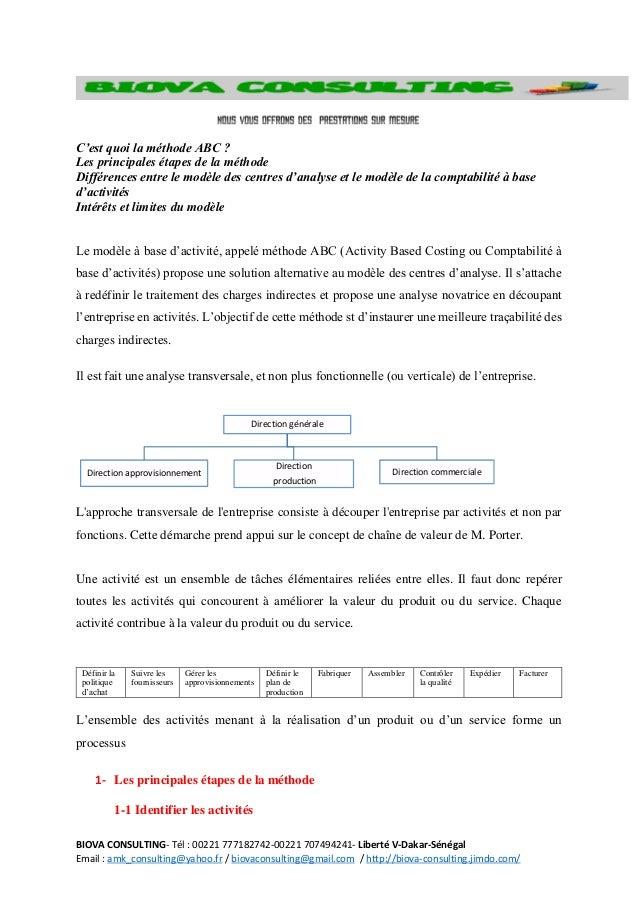 BIOVA CONSULTING- Tél : 00221 777182742-00221 707494241- Liberté V-Dakar-Sénégal Email : amk_consulting@yahoo.fr / biovaco...