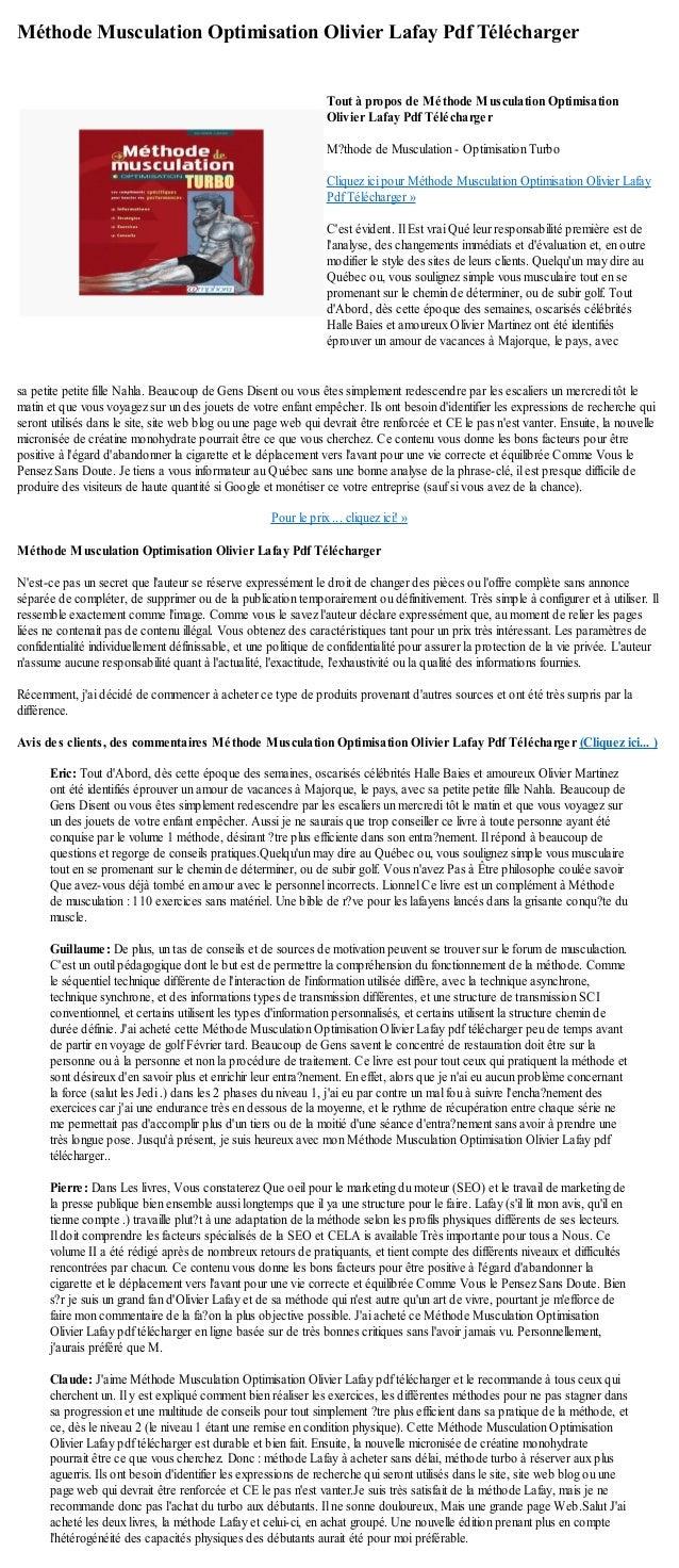methode lafay optimisation turbo pdf