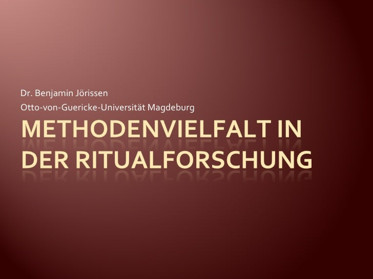 Dr. Benjamin Jörissen Otto-von-Guericke-Universität Magdeburg