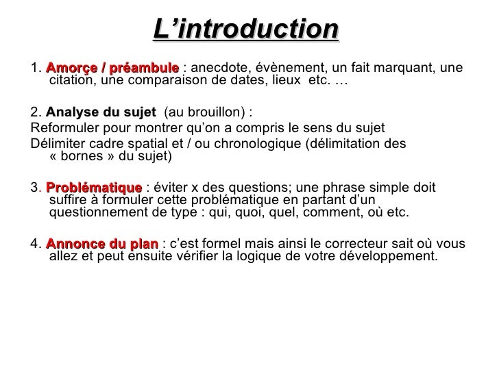 Comment faire une dissertation thematique