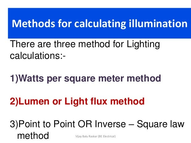 Calculating Room Index Lighting