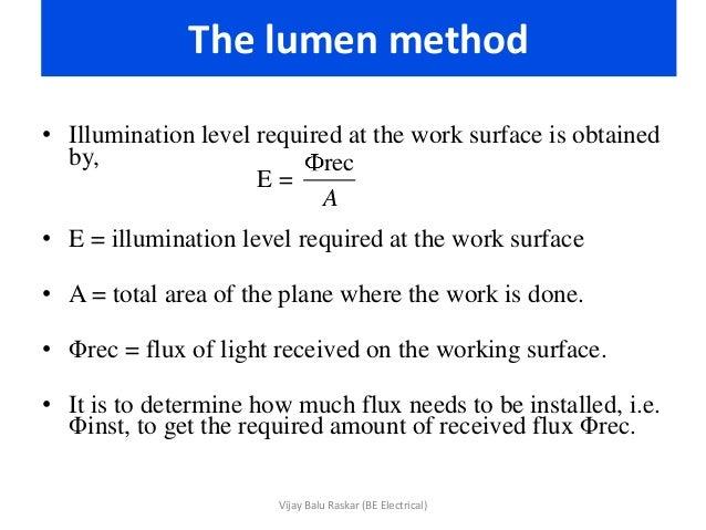 sc 1 st  SlideShare & Illumination - Method of calculation azcodes.com