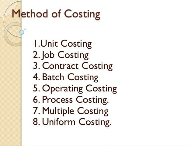 costing method Therefore, the objective of this paper is to review existing full cost accounting  methods and identify an appropriate approach for the automotive.