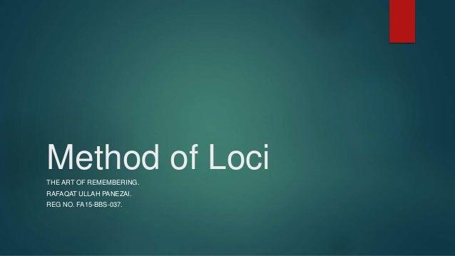 Method of loci