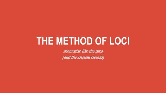 Method of loci (memory palace technique)