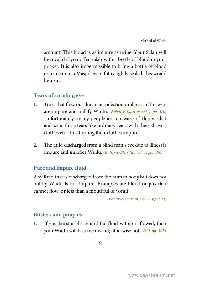 Islamic Book in English: Method of wudu (hanafi)