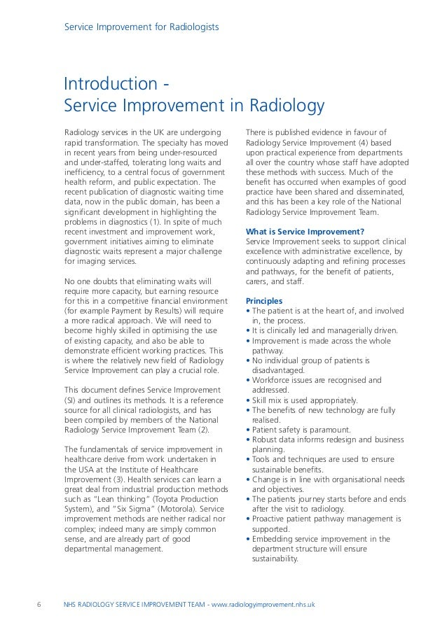 Service Improvement For Radiologists