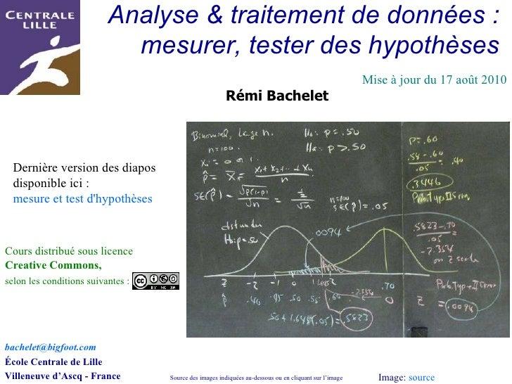 Methodologie, mesurer, tester,hypotheses