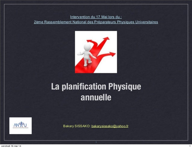 Methodologie planification en sport sissako bakary for Planification en ligne