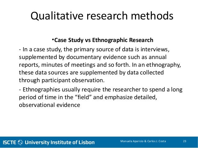 ethnographic research vs claim study