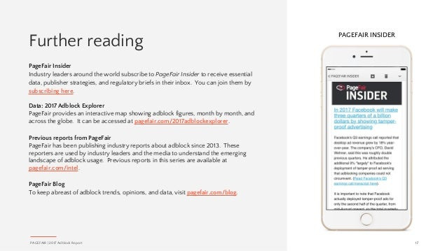 Further reading PageFair Insider Industry leaders around the world subscribe to PageFair Insider to receive essential data...