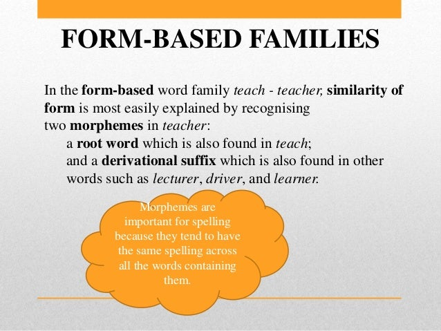 Words sets or word families