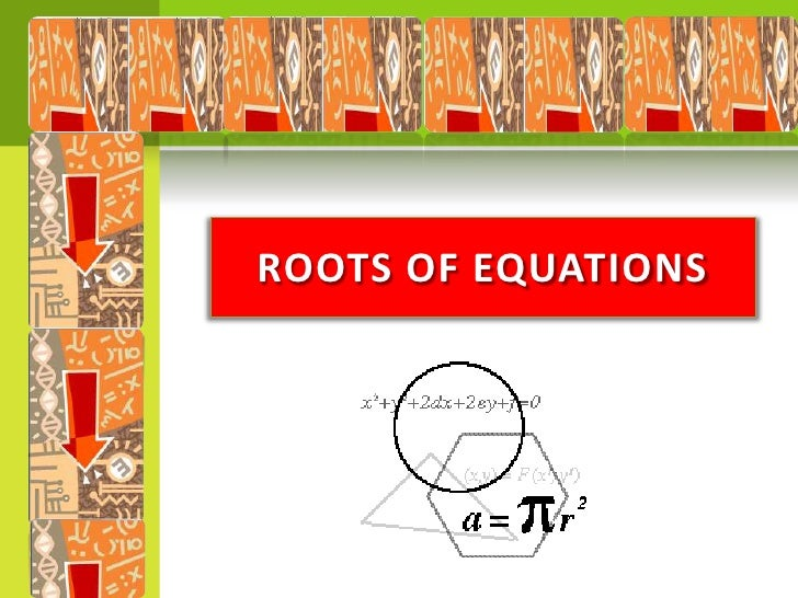 ROOTS OF EQUATIONS<br />