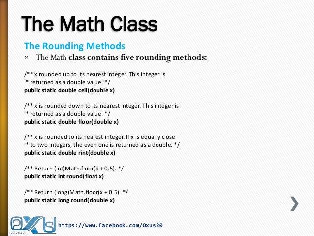 ... 31. The Math ...